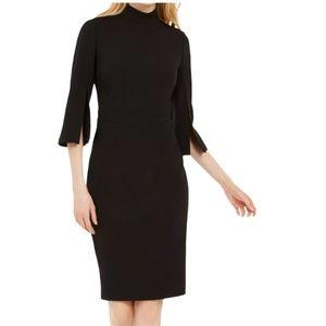 Calvin Klein quarter sleeves black dress size 4 N